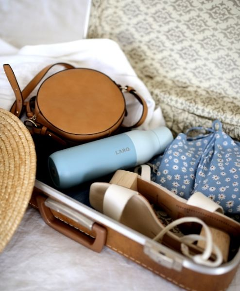 A suitcase filled with things