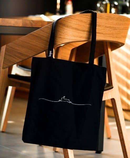 A bag hung on a chair