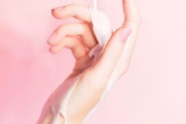 a hand with milk