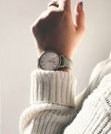 A hand with a watch
